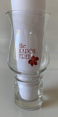 Florida Hurricane Glass Kapok Tree Inn Legendary Gardens Vintage Rare Red Color