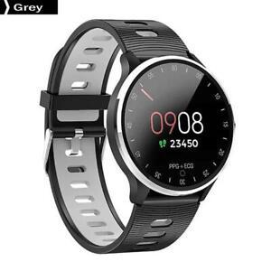 A9-Smart-Watch-Fitness-Bracelet-ECG-IP67-BT-4-0-Heart-Rate-Grey