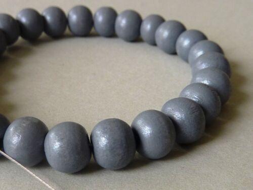 100 ronda madera perlas tonos pastel 8 mm selección elección de color 2725