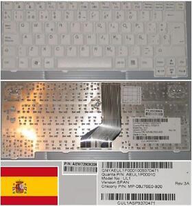 Teclado-Qwerty-Espanol-LG-X120-X130-P100-UL1-MP-08J76E0-920-AEUL1P00010-BLANCO