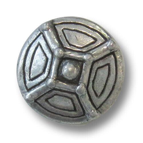5 históricamente con un aspecto botones de metal 2605zn edad media disfraces color plata F