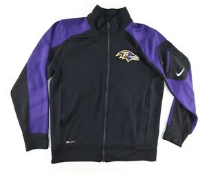 Nike-Dri-Fit-NFL-Onfield-Mens-Medium-Full-Zip-Track-Jacket-Baltimore-Ravens