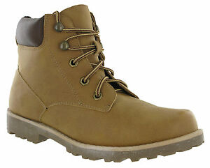 Mens-Ankle-Walking-Desert-Boots-Tan-Hiking-Lace-Up-Grip-Padded-Summer-Trail
