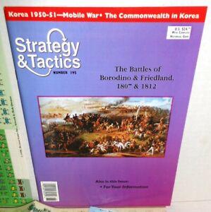 Strategy-amp-Tactics-Mag-w-Game-195-2-Nap-Battles-Borodino-Friedland-K-Zucker-039-99