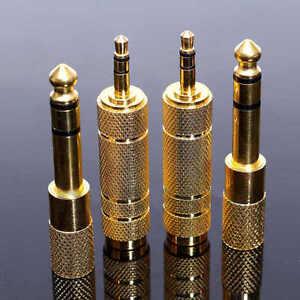 4x6-35mm-1-4-034-Stecker-auf-3-5-mm-1-8-034-Klinkenbuchse-Stereo-Kopfhoerer-AdapterDBSD