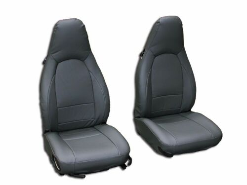 PORSCHE 911 928 944 968 CHARCOAL S.LEATHER CUSTOM MADE FIT FRONT SEAT COVER