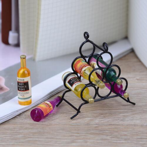 Doll House miniature furniture DIY kitchen room 1:12 /& mini wine rack bottle CYN