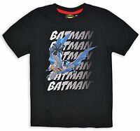 Kids Batman T Shirt Boys Grey Black Top Short Sleeve New Age 3 4 6 8 Years