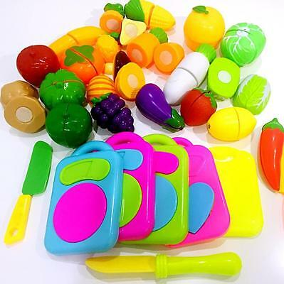 9-11PCS Pretend Role Play Kitchen Fruit&Vegetable Food Toy Cutting Set Kids 2017
