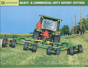Details about John Deere 609 709 HX CX Rotary Cutters Sales Brochure NEW  2007