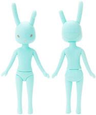 "Petworks Usagii 005 Normal Face Grey Eyes Mint Green Rabbit Bunny Nude 8"" Doll"