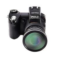 3 Lens Kit Polo D7200 3.0 Inch 33mp 1080p Hd Digital Camera Built-in Flashlight