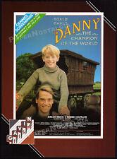 Roald Dahl_DANNY, CHAMPION OF THE WORLD__Orig. 1989 Trade AD promo__JEREMY IRONS