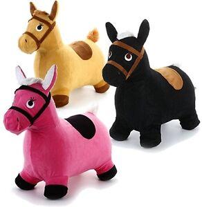 h pftier h pfpferd hopser h pfpferd sprungtier tier zum h pfen pferd 3 farben ebay. Black Bedroom Furniture Sets. Home Design Ideas