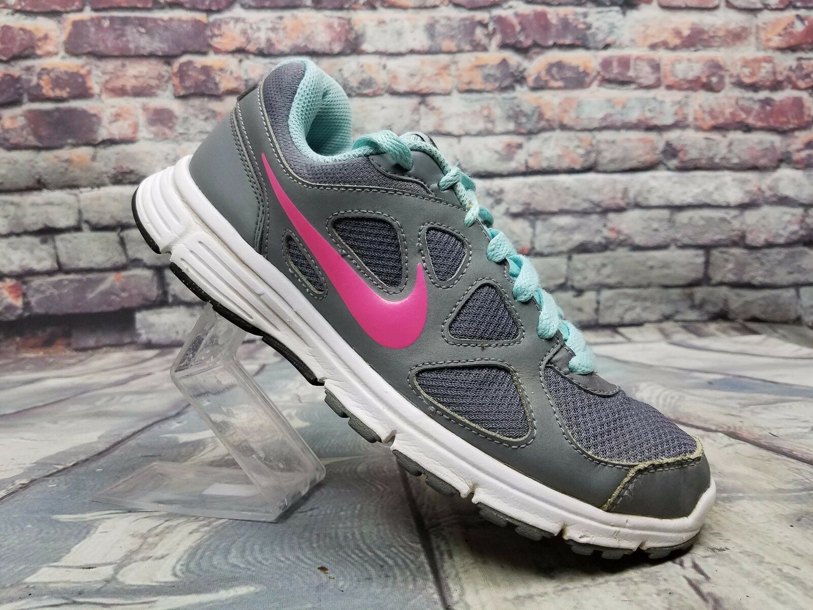Women NIKE 488148-002 REVOLUTION 488148-002 NIKE Athletic running shoes Gray/ blue / pink Sz 8.5 366675