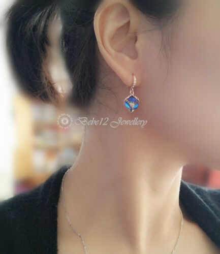 Crystal Cube Drop//Dangling Earring//RGE582