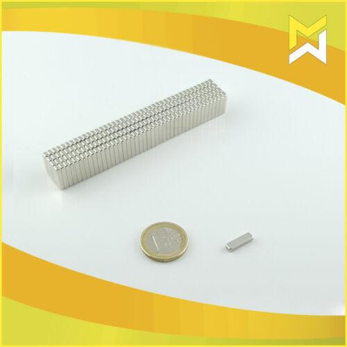 vernickelt 20 Stück Neodym Quader Magnete 14x4x2,5mm,Güte N45