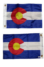 12x18 State of Colorado 2 Faced 2-ply Wind Resistant Flag 12x18 Inch