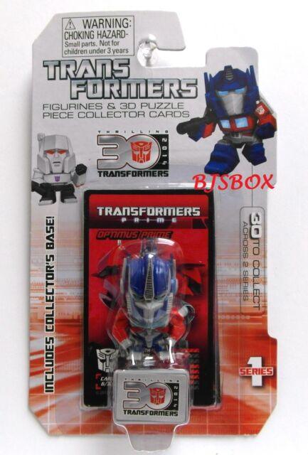 Optimus Prime #6 Series 1 Transformers Figurine & 3D Puzzle Collector Cards New