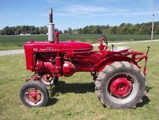 1956 Farmall 100 Ih Repainted Tractor 1pt Quick Hitch Drawbar Weights Runs Good