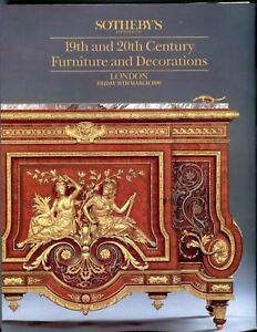 Sotheby S Auction Catalog March 16th 1990 London Furniture And Decorations Ebay
