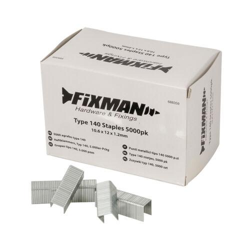 FIXMAN Type 140 Agrafes 5000pk 10.55 x 12 x 1.26 mm688359