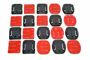 10x Flat & Curved Base 3M Adhesive Pad Mount Kit for GoPro Camera 6 7 8 9
