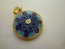 MURANO MILLEFIORI GLASS PENDANT ANTICA MURRINA VENEZIAN AMV 20mm VENICE NEW.