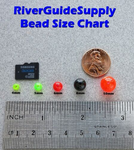 5 mm 200 Count ronde fluorescent rouge perles USA Fishing Tackle livraison gratuite