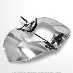 Medieval-18-Gauge-Steel-Plate-Armor-Classic-Gorget-H-Neck-Protector-SCA-LARP