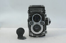 Rolleiflex 3.5F 12x24 Xenotar White Face TLR Film Camera with Cap