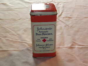 VINTAGE-1986-JOHNSON-amp-JOHNSON-100TH-ANNIVERSARY-BABY-POWDER-TIN