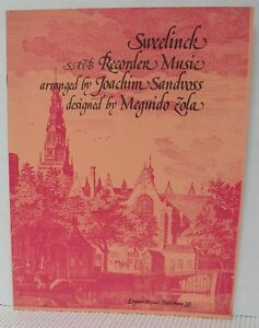 Details about SATB RECORDER MUSIC - CHANSONS by J P  SWEELINCK Sheet Music  Book Classical
