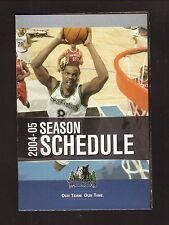 Latrell Sprewell--2004-05 Minnesota Timberwolves Schedule--U.S. Bank