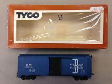 TYCO BROWN BOX HO SCALE 311G 250 BOSTON & MAINE STEEL BOXCAR MODEL TRAIN D