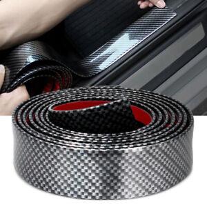 Kohlefaser-Gummi-Streifen-Trim-KFZ-Auto-Tuer-Kante-Aufkleber-Pedal-Schutzleisten