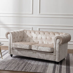 Astounding Details About Oversized Velvet Chesterfield Sofa Deep Seat Two Seater Settee Crushed Tub Chair Unemploymentrelief Wooden Chair Designs For Living Room Unemploymentrelieforg
