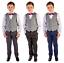Boys-Suits-Boys-costumes-de-mariage-carreaux-gilet-costume-Page-Garcon-Bebe-formelle-Parti-Bow miniature 1
