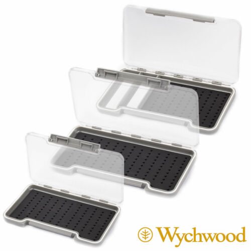 TROUT GAME FLY FISHING WYCHWOOD SILICONE HOOK HOLD FLY BOX CHOOSE SIZE