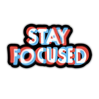 "Stay Focused 3D Trippy Funny Laptop Bottle 5/"" Custom Vinyl Decal Sticker JDM"