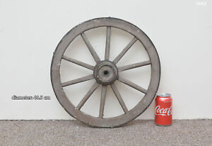 Vintage-old-wooden-cart-wagon-wheel-40-5-cm-FREE-DELIVERY