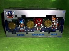 NEW Sonic The Hedgehog 25th Anniversary 3 Figure Set Knuckles Tails with Coins