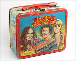 Vintage-1980-THE-DUKES-of-HAZZARD-Metal-Lunch-Box-Warner-Aladdin-Industries