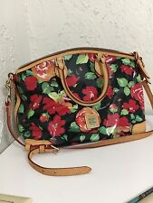 Dooney & Bourke Rose Garden Domed Floral Black/Multi-color Satchel