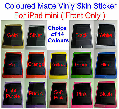 Matte Carbon Fibre for iPad mini Front Skin sticker Front Only