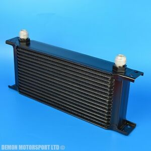 16-Row-Oil-Cooler-Black-An-10-Fittings-235-mm-Wide-Alloy-For-Race-Rally-Trackday