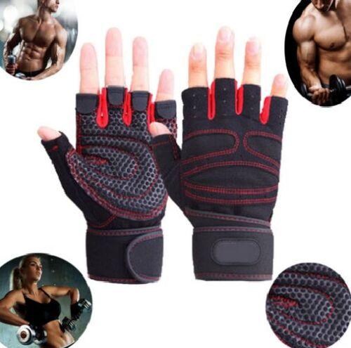 Pro Fitness Gewichtheber Handschuhe Training Gymnastik Handgelenk Sport HS