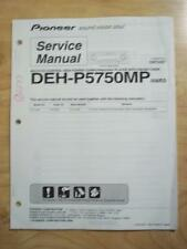 Pioneer Service Manual for the DEH-P5750MP Car Stereo Radio  mp