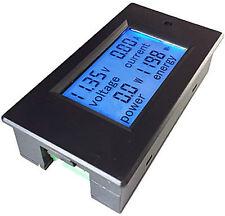 DC Battery20A LCD Spannung Volt Watt Leistungsmesser Amperemeter Messgeräte L2s