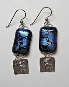 HANDMADE-DICHROIC-GLASS-EARRINGS-STERLING-SILVER-EARWIRES-AND-CHARMS-4